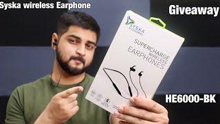 Syska wireless Earphones HE6000-BK Review in hindi Giveaway Mohit Balani