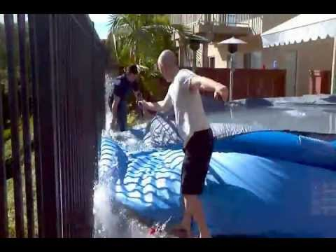Popping Inflatable Whale Pool Toy Float Gets Popped Doovi