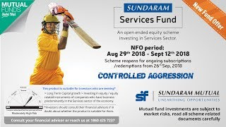 Sundaram Services Fund - NFO Open till Sept 12! Invest Now!