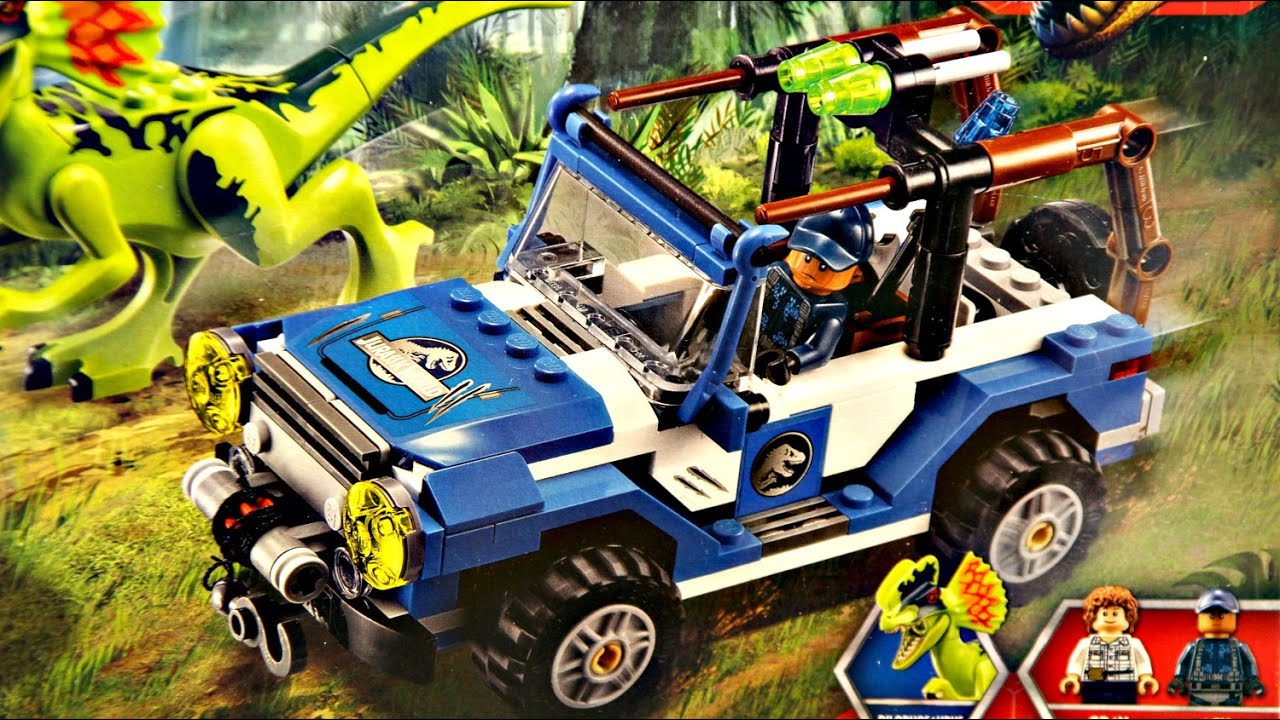 how to get dilophosaurus in lego jurassic world