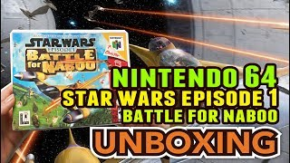 Star Wars Episode I :Battle for Naboo (Nintendo 64) Unboxing !!