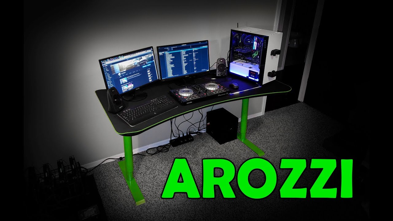 Arozzi arena gaming desk review youtube
