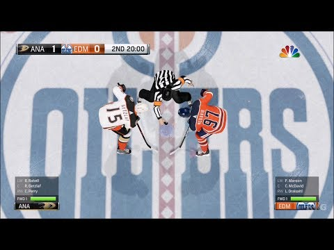 NHL 18 - Edmonton Oilers vs Anaheim Ducks - Gameplay (HD) [1080p60FPS]