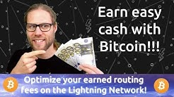 Earn Bitcoin with Lightning Network Routing fees and a little Data science