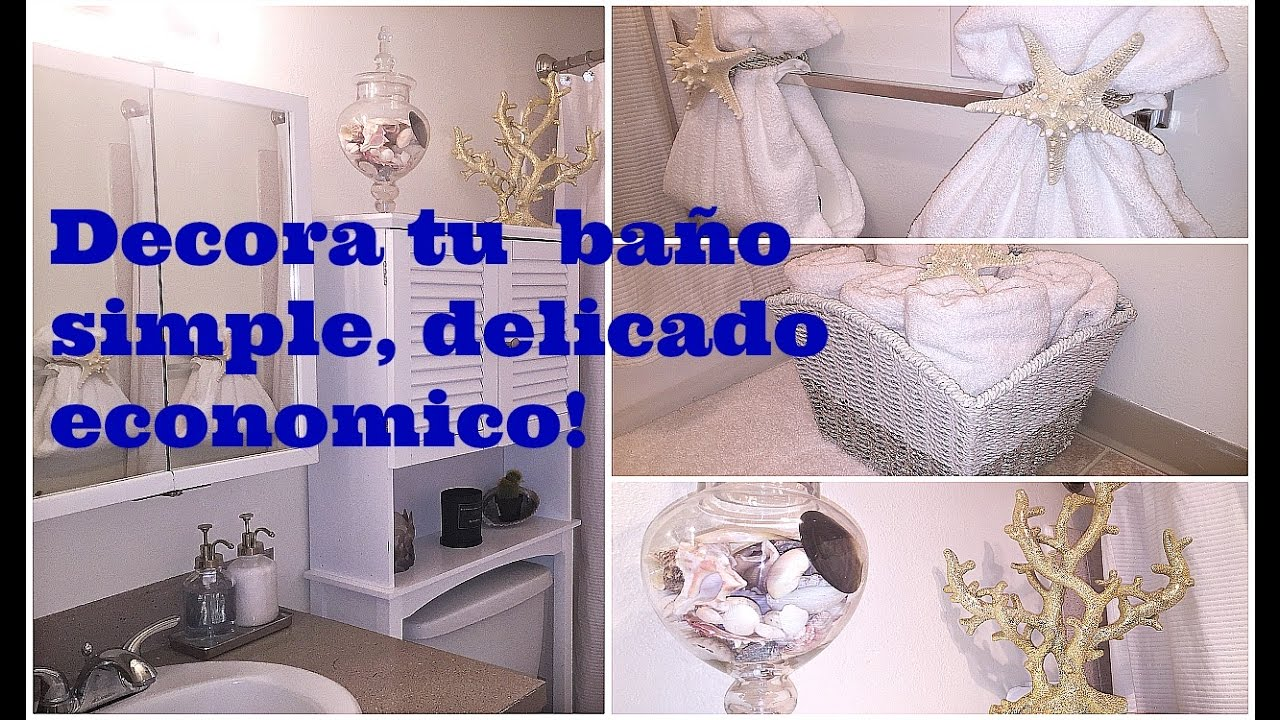 Decora un ba o peque o s per econ mico youtube for Como decorar un antejardin pequeno