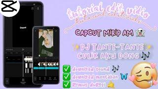 Download tutorial edit Vidio tiktok lagu DJ Tante-tante culik aku dong || CAPCUT
