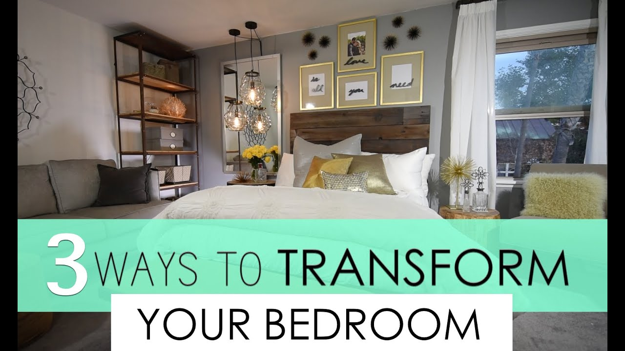 Elegant Top 3 Ways To Transform Your Bedroom Decorating   YouTube