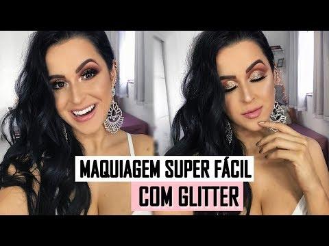 MAQUIAGEM COM GLITTER PODEROSA E SUPER FÁCIL