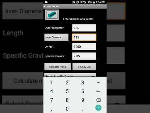 best mobile app for Fabrication weight calculation