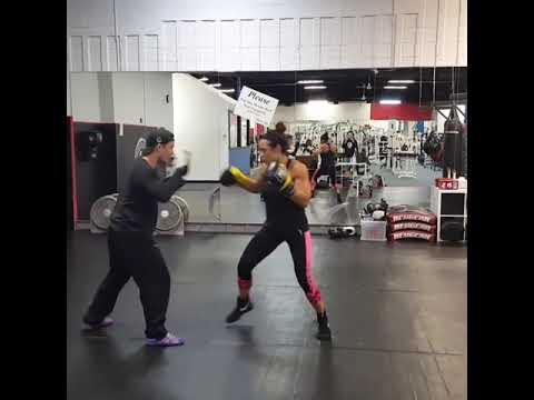 New U Fitness Natalie Leon Sparring Session