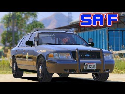 GTA V RP: SA'F #47 - Good Samaritans Help Downed Officers