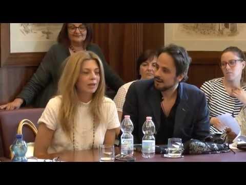 Maximilian Nisi e Benedicta Boccoli-Conf.Stampa 50°Festival Teatrale Borgio Verezzi