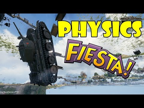 World of Tanks - Funny Moments | PHYSICS FIESTA! (WoT Bugs, May 2018) thumbnail