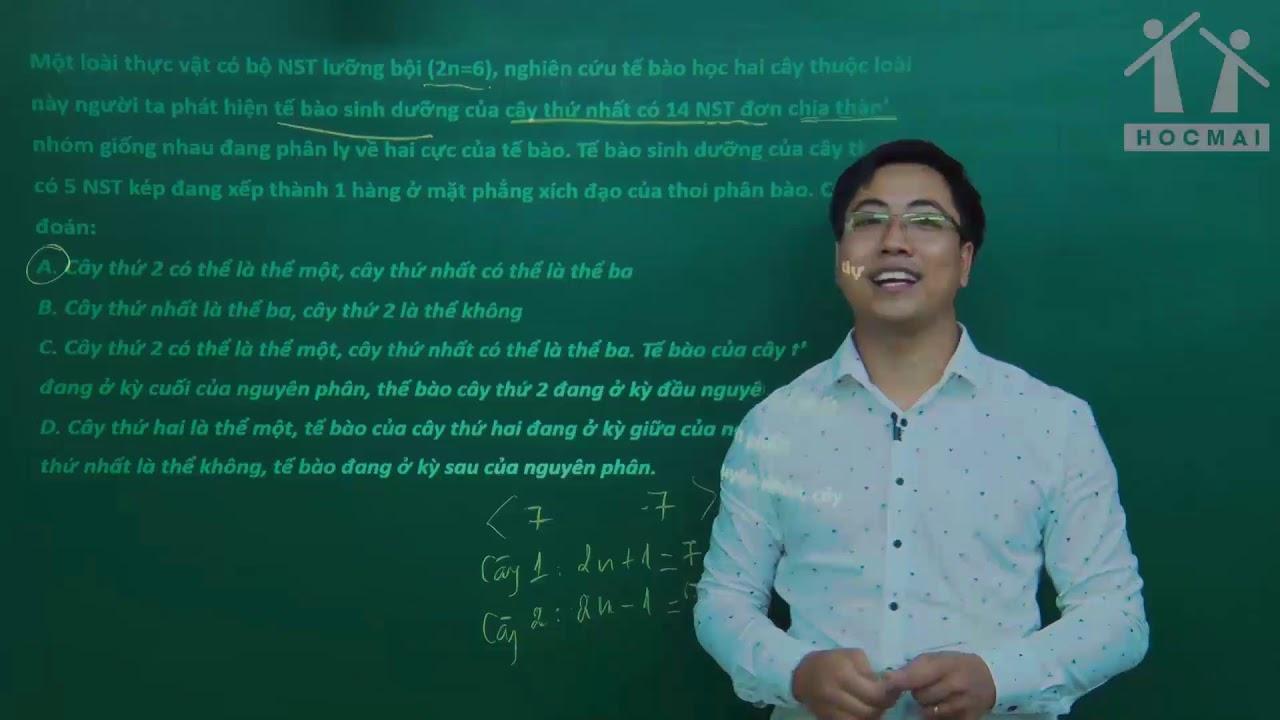 Giải bài tập sinh học vận dụng – P2- Lớp 12 – Thầy Đinh Đức Hiền- PEN-I 2019