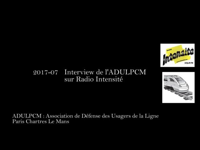 Interview de lADULPCM sur Radio Intensité