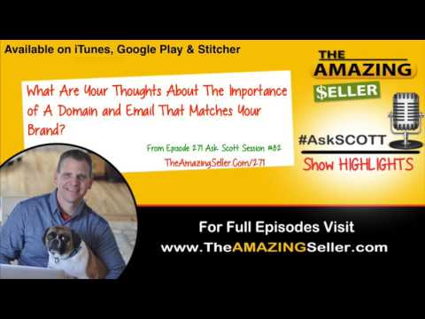What Is The Importance Of A Domain And Email That Matches Your Brand? - TAS 271 - The Amazing Seller