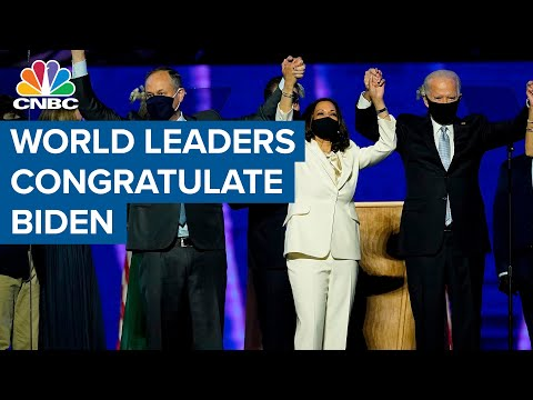 World leaders congratulate Biden on his projected election win