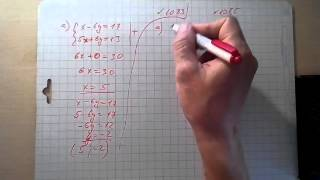 решение систем линейных уравнений способом сложения №1083 и №1085