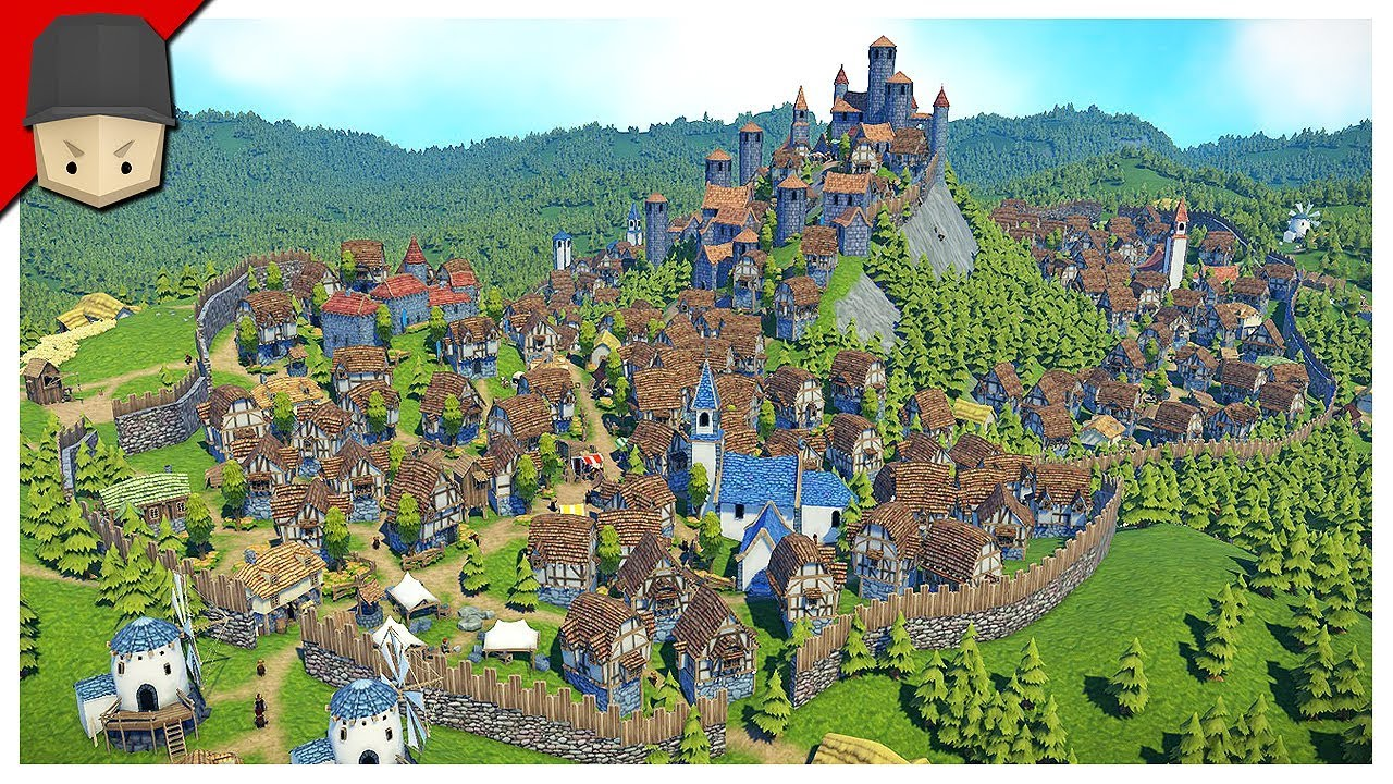 Foundation Polymorph Games medieval city 300+ population! - foundation gameplay (medieval city builder)