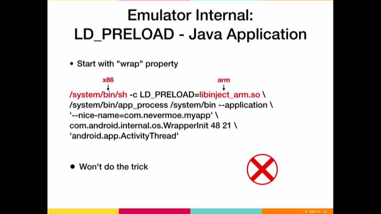 DEF CON 26 - Nevermoe - One Step Ahead of Cheaters Instrumenting Android  Emulators