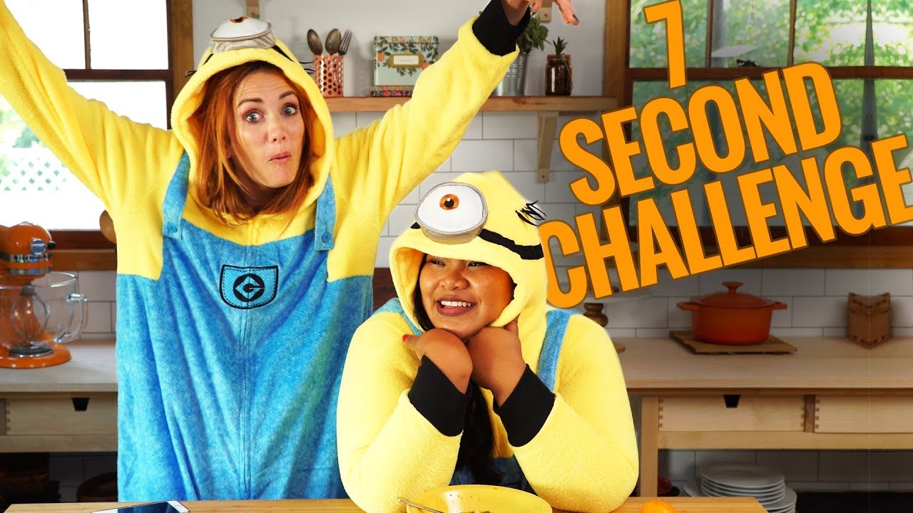 7 SECOND CHALLENGE ft. Just Eat Life  || Feeling Peckish