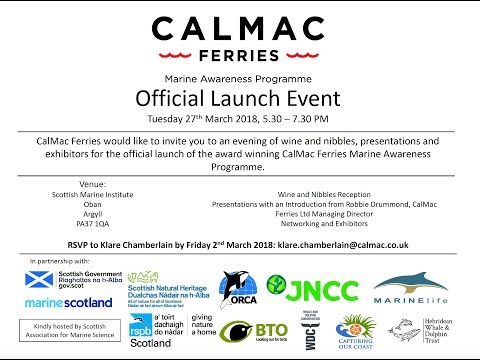 CalMac Marine Awareness Programme Launch Event