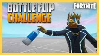 Bottle Flip Challenge in Fortnite with Four Players! | Swiftor