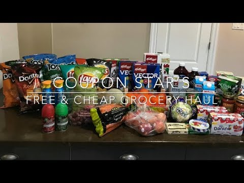 FREE & CHEAP GROCERY HAUL - December 7th 2017 - COUPON STAR