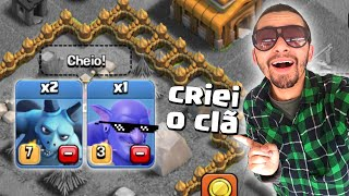 TROLLANDO INICIANTES NO CLASH OF CLANS!!!