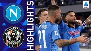 Napoli 2 0 Venezia Napoli win at home Serie A 2021 22