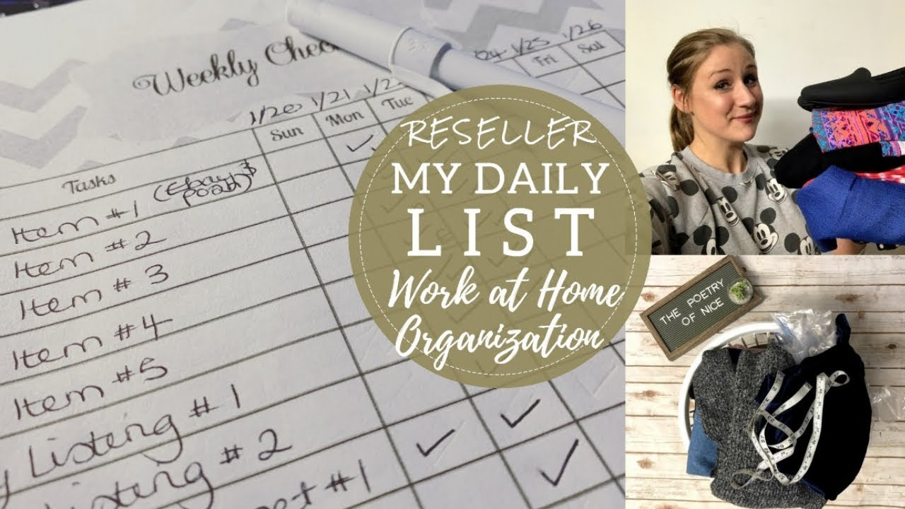 My Daily Checklist! | Staying Organized as a Poshmark & Ebay Seller | Work at Home Tips