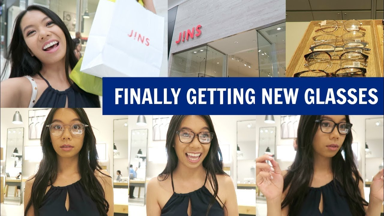 2c7cb2272c9 Shopping for New Glasses at Jins! (Glasses Try On Video   Experience ...