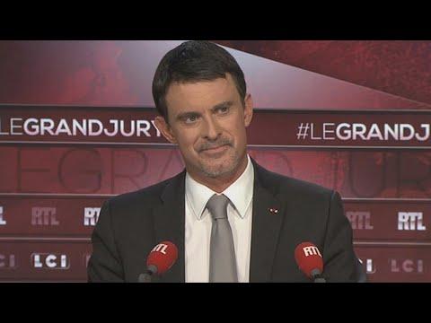 """Manuel Valls était l'invité du """"Grand Jury"""" de RTL, LCI et """"Le Figaro"""" dimanche 26 novembre 2017"""