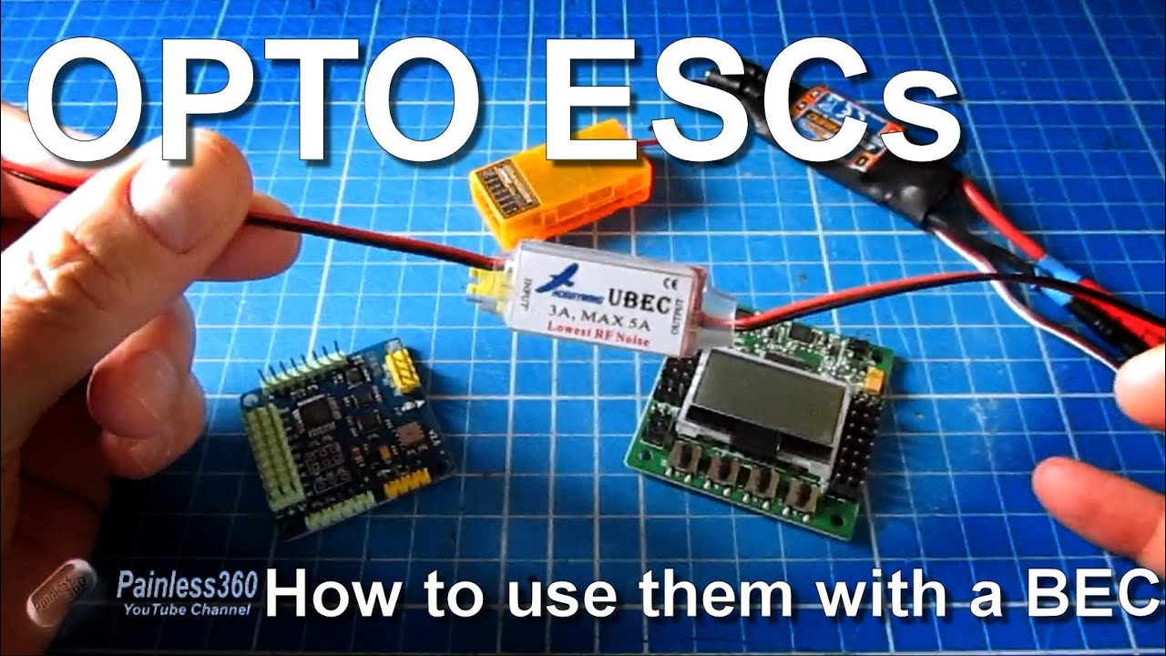 how to connect opto escs and a bec to you multirotor kk2 0 or mwc  [ 1280 x 720 Pixel ]