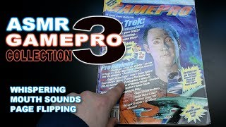 ASMR - GamePro Magazines Part 3 - whispering, mouth sounds, page flipping, relaxing, tingles