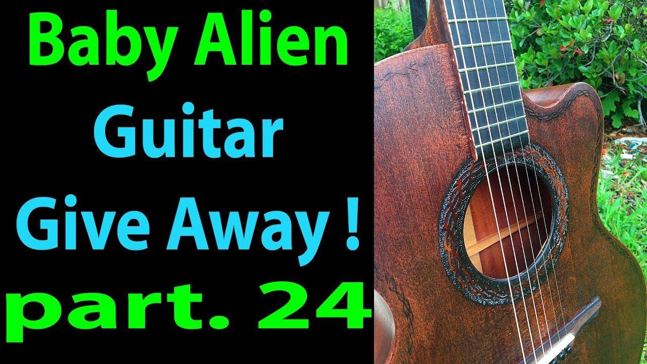 Pt 24 Baby Alien Giveaway Guitar -Pt 2 Installing the Cutaway Binding in 4k