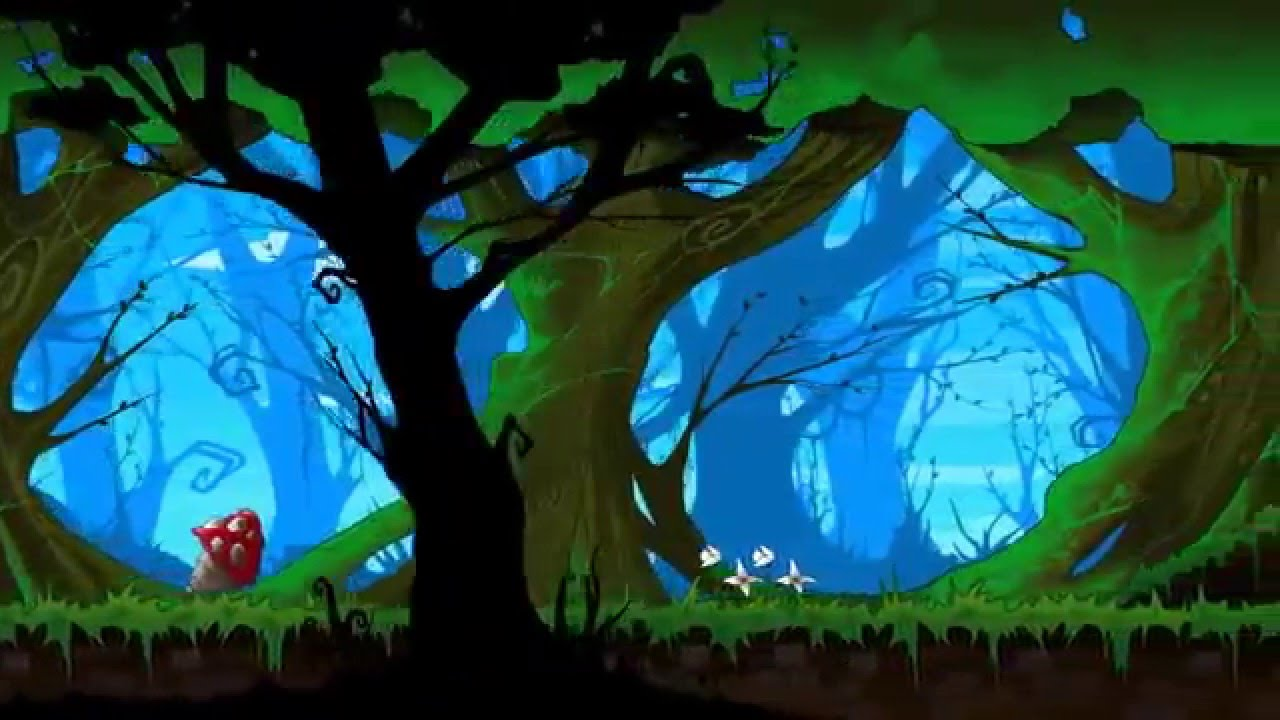Hand Painted Forest Background