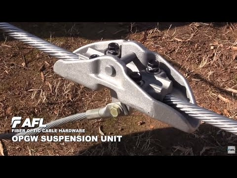 AFL OPGW Mechanical Suspension Unit Installation