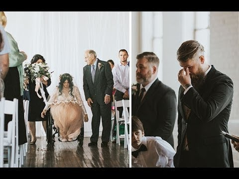 8 Yıldır Felçli Olan Gelin Düğününde Ayağa Kalktı - Damat Gözyaşlarına Hakim Olamadı