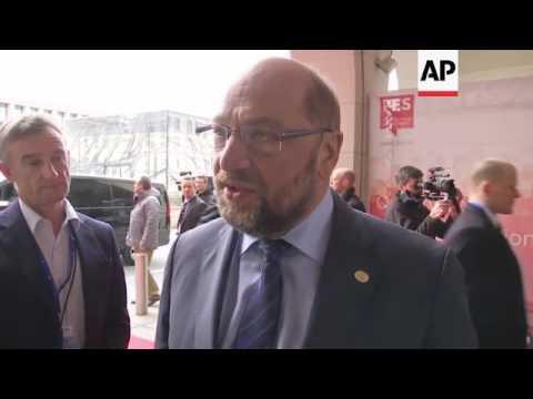 EU socialist parties gather ahead of talks