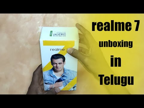 realme 7 unboxing & first impression in telugu