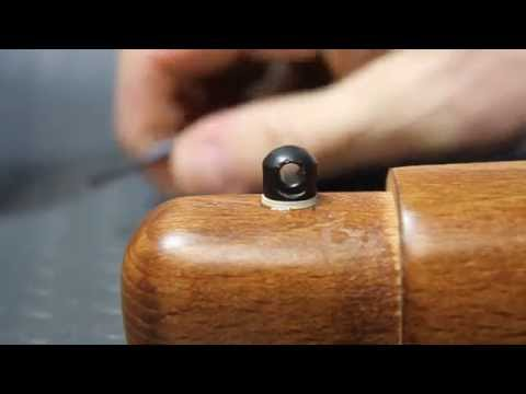 How to install swivel sling studs on a rifle stock: Ruger 10/22