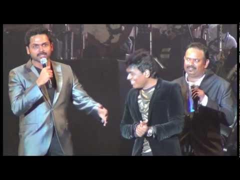 Karthi with Venkat Prabhu & Didi - Yuvan KLIMF 2012