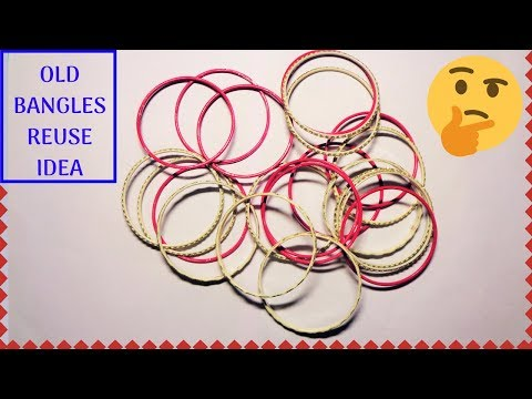 How to reuse old bangles at home | Best out of waste | Easy craft idea