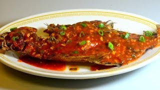 Crispy Fried Flounder / Sole Fish In Sweet Tomato Sauce: Authentic Chinese Cooking