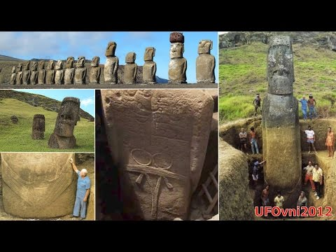 The Moai of Easter Island are bodies buried under the surface
