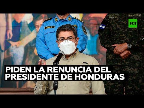 El Consejo Nacional Anticorrupción pide la renuncia del presidente de Honduras