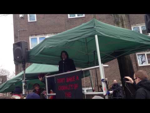 CNJ/Islington Tribune: Islington Council leader Catherine West at Whittington Hospital rally