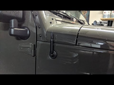 HOW TO INSTALL A NEW ANTENNA ON JEEP WRANGLER RONIN  BULLET