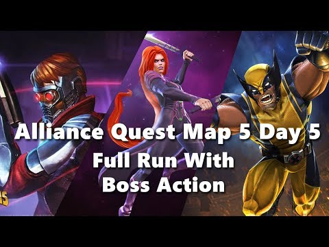 Alliance Quest Map 5 Day 5 - Full Run -  Marvel Contest Of Champions